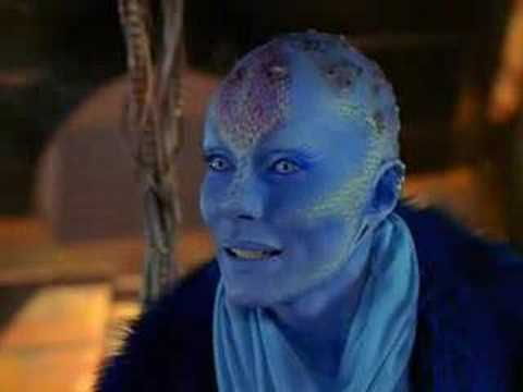 Zhaan from Farscape (played by Virginia Hey) is the obvious choice.